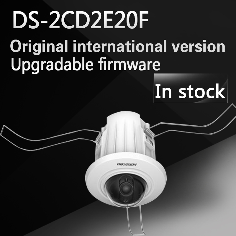 English version DS-2CD2E20F 2.0MP Recessed Mount Dome IP CCTV CAMERA Support DC12V and PoE power supply 10piece new rt8223bgqw rt8223b ds ca ds cf ds bj ds cd ds high efficiencymain power supply controller for notebook computers