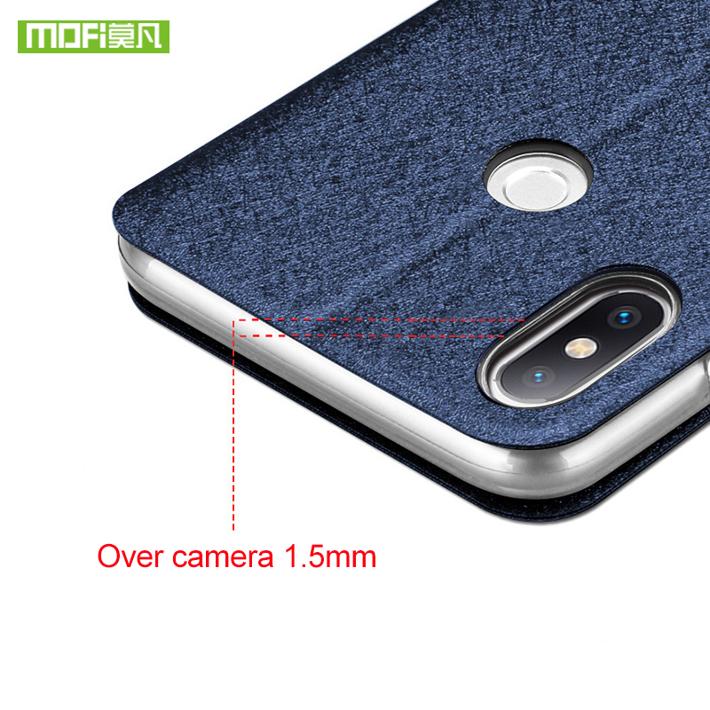 Original MOFi For Xiaomi Mi8 Mi 8 SE Case Cover for Xiaomi Mi 8SE Silicone Flip Case Protective Leather for Xiaomi Mi8 SE Case in Flip Cases from Cellphones Telecommunications