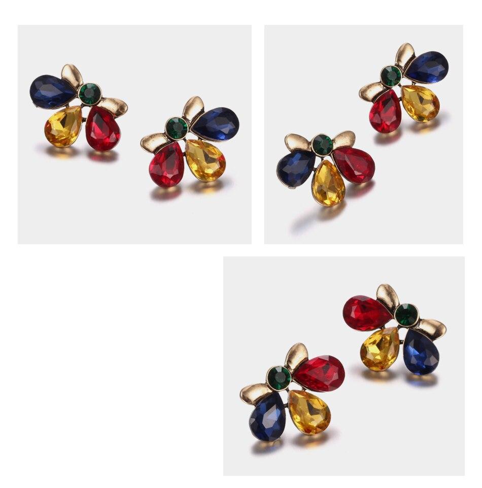 eManco Luxury Rhinestones Crystal Dangle Earrings for Women