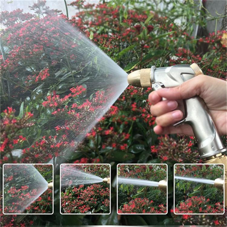 High Quality 25FT-100FT Garden Hose Telescopic Magic Hose Plastic flexible Car Wash Hose Metal Spray Gun Outdoor Garden Watering