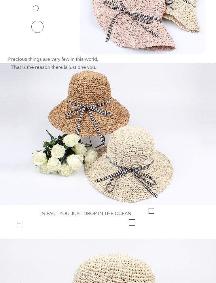 ̀ •́ 2018 nueva pajarita grande ala ancha sombrero de paja de sol ...
