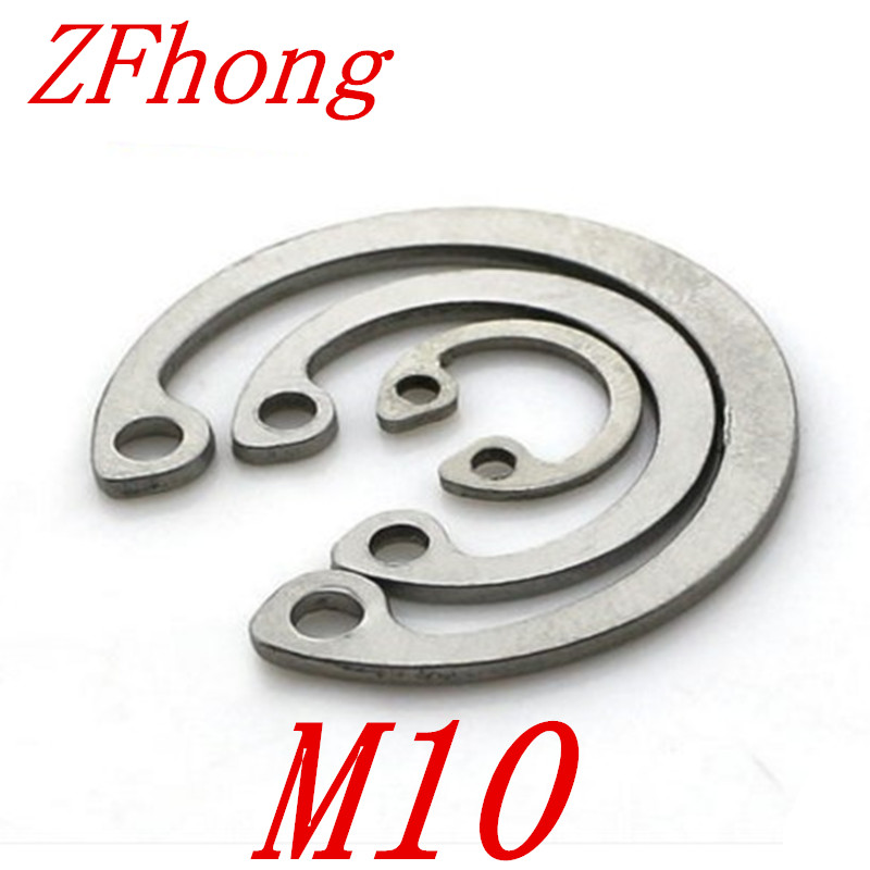 50pcs 304 Stainless Steel SS DIN472 M10 C Type Snap Retaining Ring For 10mm Internal Bore Circlip