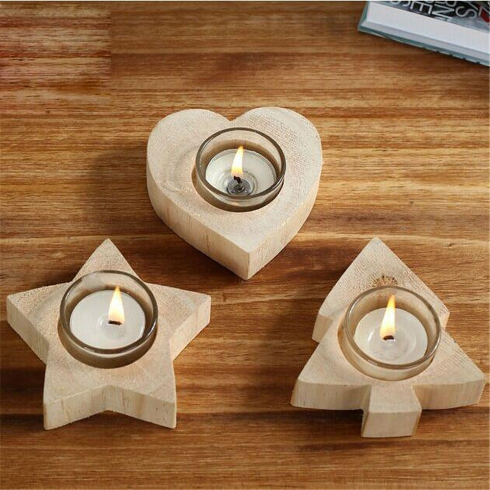 Wooden candle holders crafts - Modern Handmade Wooden Candle Holders With Candle