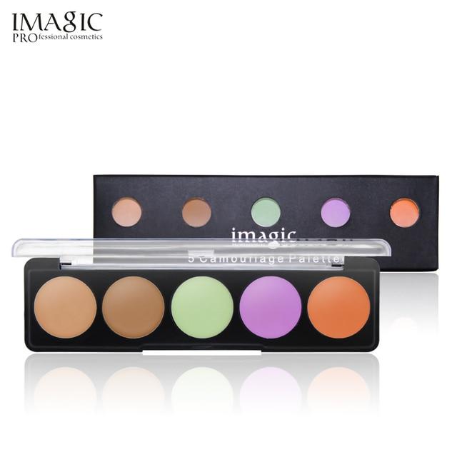 IMAGIC Full Cover Pro Makeup Concealer Cream Face Cover Contour Makeup Facial Natural Cosmetic and puff