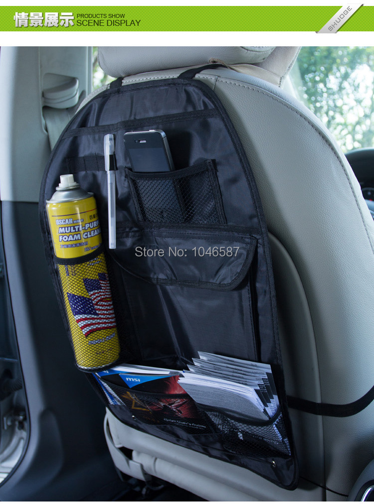 Car font b Accessories b font organizer Back seat of chair Car multi Pocket Storage Auto