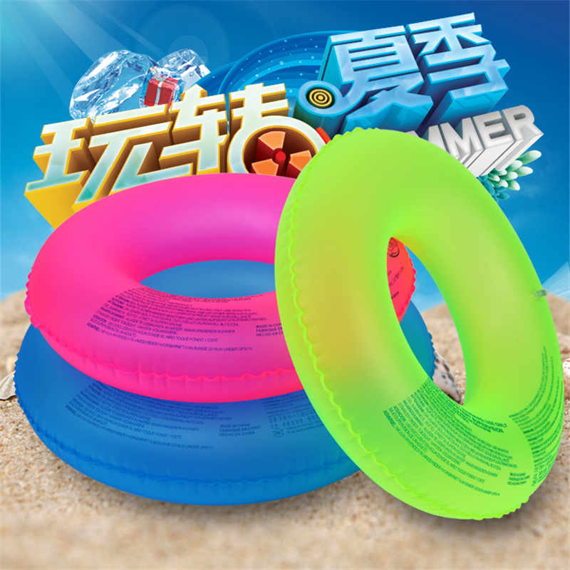Fluorescent swimmer adult thickening men and women inflatable life buoy to increase the armpit circle circle circle 2017 new