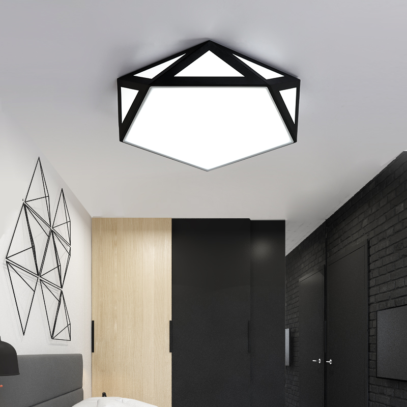 Surface mounted LED ceiling light geometry simple decoration fixtures study diningroom balcony bedroom living room ceiling lamp modern led ceiling lamp aisle simple living room porch balcony study room long lamp