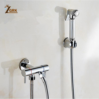 ZGRK Ass Bidet Squeegee Silver Bathroom Faucet Shower System Washing Tap Tail Anal Nozzle Wall Handheld Hygienic