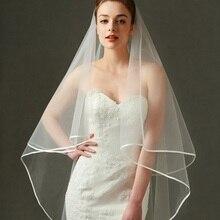 Новая свадебная вуаль цвета слоновой кости короткие простые элегантные свадебные аксессуары белая вуаль для женщин Свадебная горячая распродажа