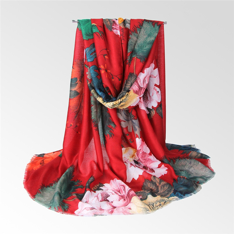 NEW Autumn floral print hijab scarf soft pashmina fashion muslim scarfs women scarves shawls brand muffler flower islamic hijabs
