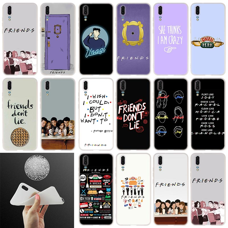 Friends Together Soft Silicone Phone Case For Huawei P30 P20 P30Pro P10 P9 P8 Lite 2017 P samrt 2019 Plus Cover image