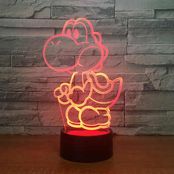 Yoshi 3D LED USB Lamp Cartoon Game Figure Super Mario Acrylic Novelty Christmas Lighting Gift RGB Touch Remote Controller Toys - DISCOUNT ITEM  42% OFF All Category
