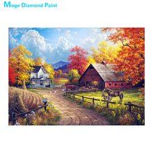 цены на Farm Manor scenic Diamond Painting Full Round  New DIY Sticking Drill Cross Embroidery 5D Rural pastoral simple Home Decoration  в интернет-магазинах