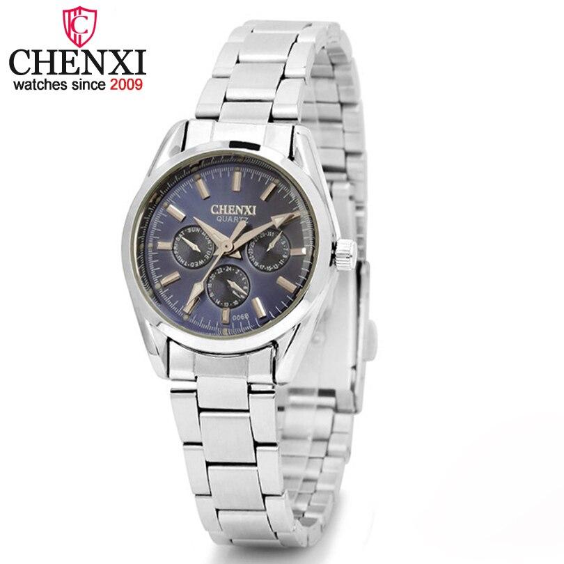 CHENXI Brand Stainless Steel Watches Women Dress Watch Relogio Ladies Wristwatch Clock Designer Female Gift Quartz