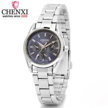 CHENXI Brand Stainless Steel Watches Women Dress Watch Relogio Ladies Wristwatch&Clock Designer Female Gift Quartz Watch&Relogio