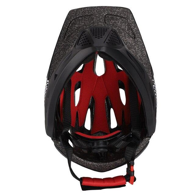 Crianças led rosto cheio mountain bike capacete equilíbrio bicicleta esportes segurança crianças completa coberto capacetes downhill scooter bmx criança 46-53cm 4