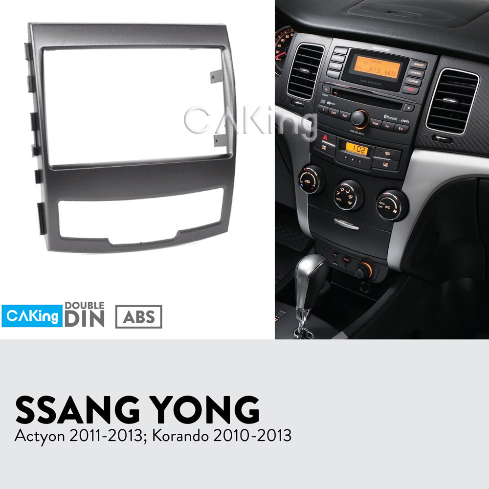 Car Fascia Radio Panel for SSANGYONG Actyon 2011 2013 Korando 2010 2013 Dash Kit Facia Plate