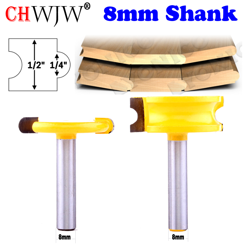 "2pc 8mm Shank 1/4"" Dia. Canoe Flute And Bead Canoe Joint Router Bit  Cutter Woodworking Bits Wood Milling Cutter"