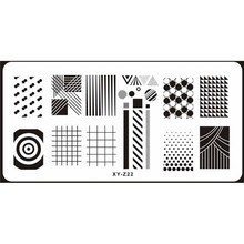 NEW Image Plate 6*12 CM Geometry Dots & Stripes Nail Art Stamp Template Image Plates For Nail Polish Stamping # XY-Z-22 цена 2017