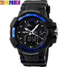 2016 new SKMEI Brand Men fashion Sports Watches analog Digital LED Quartz swim waterproof rubber Wristwatches relogio masculino