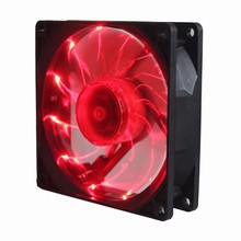 5Pcs Gdstime 15 LED PC Computer Case Heatsink Cooler Cooling Fan DC 12V 3Pin 90mm Red