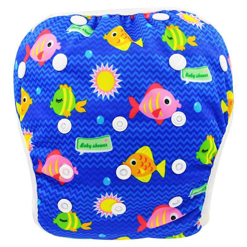 Детские водонепроницаемые трусики Ohbabyka, многоразовый регулируемый тканевый подгузник для плавания, разные расцветки, 2019