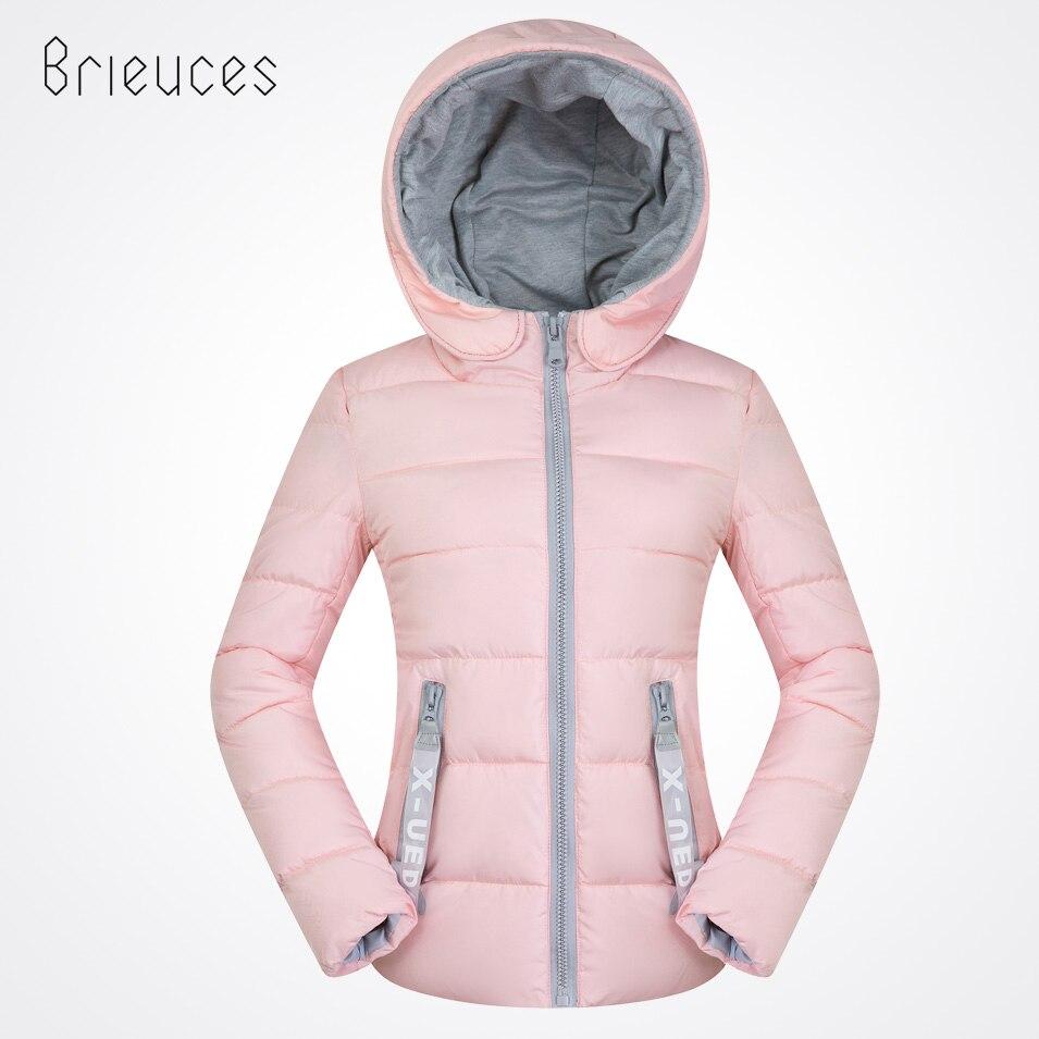 Brieuces 2018 New Female Warm Winter Jacket Women Coat Thin Down Cotton   Parkas   Ultra-light Cotton-padded Jacket Short Outwear
