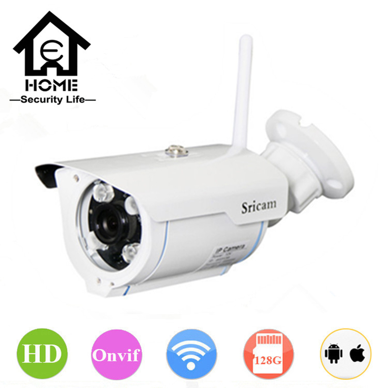 Sricam 720P HD IP Camera WIFI Onvif 2.4 P2P for Smartphone Waterproof Vandalproof Support 128G SD TF Card 15m IR Outdoor IP Cam гель kapous professional gel normal styling