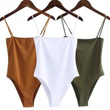 New Fashion Women Bodysuits Sexy Jumpsuit Off Shoulder Backless Spaghetti Strap