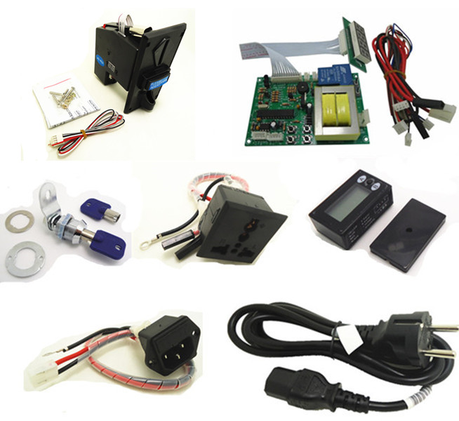 timer set for 110V EURO EU plug multi coin operated Time Control Power Supply, multi coin acceptor, reset counter, lock, sockets