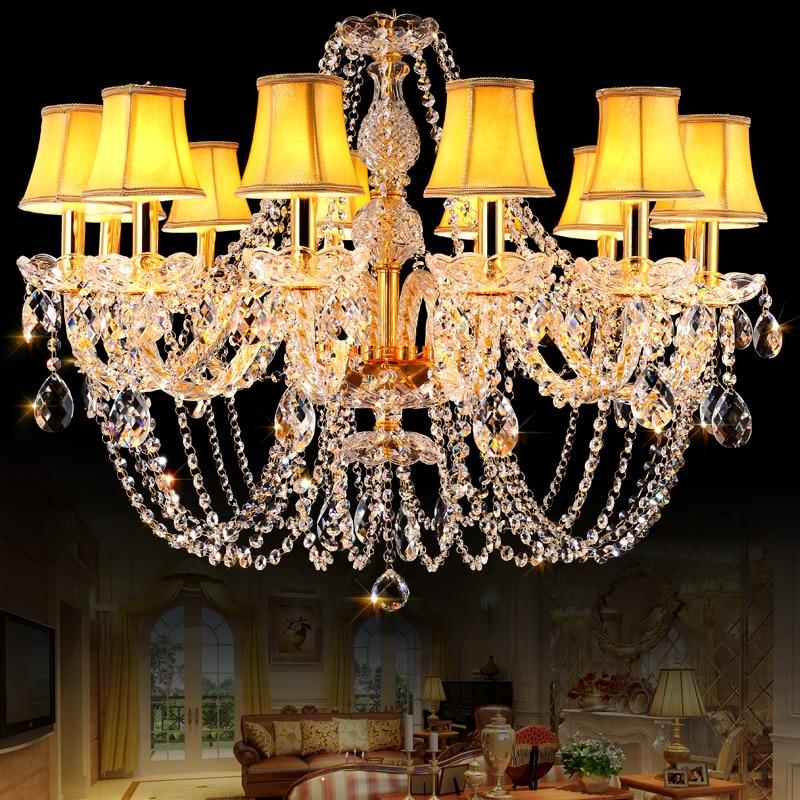 Gold Crystal Chandelier Novelty Lights for Kitchen Living room Lamp lustres de cristal led chandelier lampadari Wedding Decorate