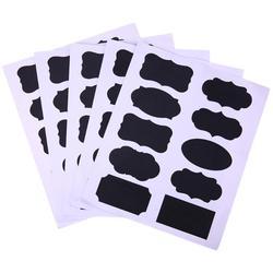 50 pçs/set Quadro Blackboard Etiqueta Artesanato Jar Cozinha Organizador Blackboard rótulos Etiquetas Janelas De Vidro Escritório Papelaria