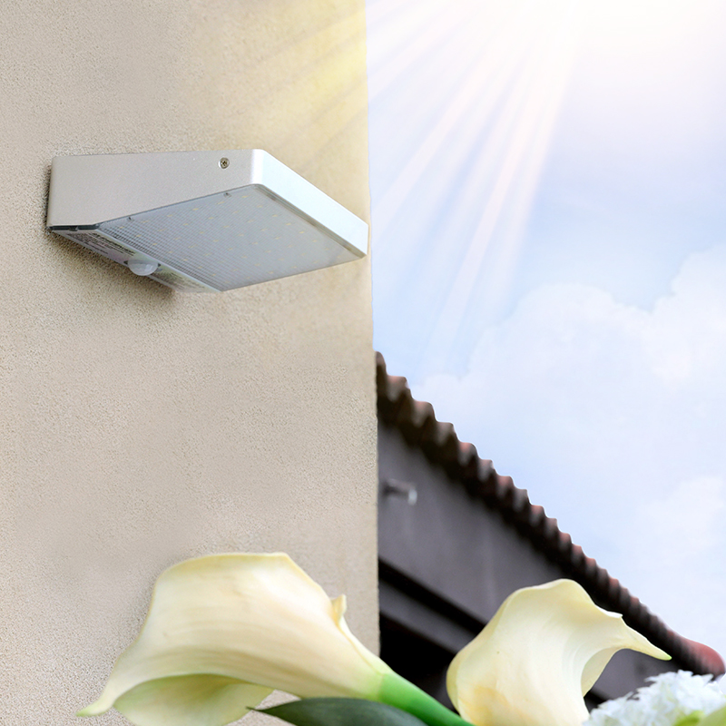 Solar Lights Outdoor Motion Sensor 48 LED <font><b>4400mAh</b></font> <font><b>Battery</b></font> Wall Lamp Wireless Waterproof Security Lighting for pathway,barngarage image