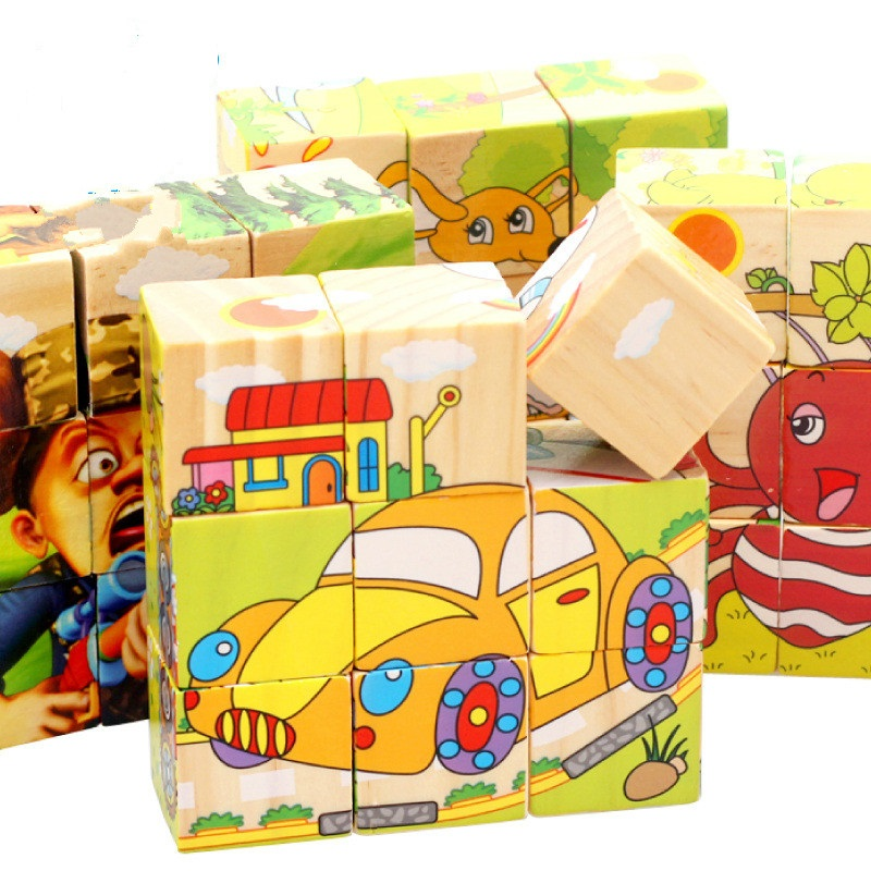 New Wooden 3D Puzzle Baby Puzzle Kids Game Educational Toy ...