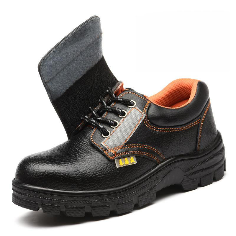 Safety Shoes Cap Steel Toe Safety Shoe Boots For Man Work Shoes Men Waterproof Size 12 Black Footwear Wear-resistant DXZ001 image