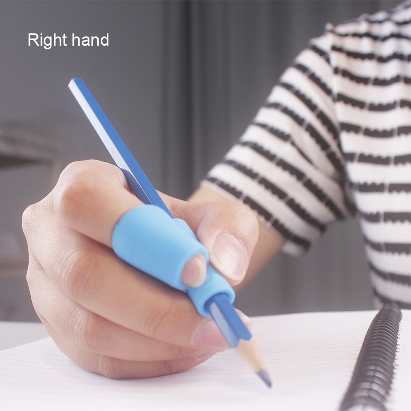 1pc Children Learning Partner Pencil Pen Holder Student Handwritten Posture Corrector Silicone Left And Right Hand Universal