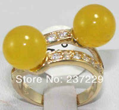 จัดส่งฟรี>>>@@ขายส่งราคาS ^^^^แผ่นทองที่สวยงามเหลืองหยกแหวนขนาด7 8 9 #