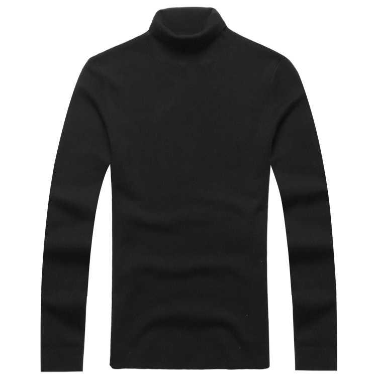 Mens Autunno Inverno Nero di Lana A Collo Alto del Maglione Slim Fit Solido Degli Uomini In Maglia di Cachemire di Modo di Stile Europeo Nuovo Pullover J701