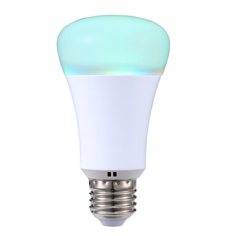 imágenes para Funciona con amazon echo alexa wi-fi bombilla 2.4g smart home control wreless aplicación bombilla rgb e27 lámparas led inteligente iluminación