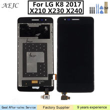"Para lg k8 2017x210x230x240 h x240dsf x240 x240k display lcd de tela toque digitador assembléia 5 ""para lg k8 2017 display lcd(China)"