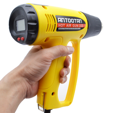 Electric 220V 2000W Heat Gun Power Tools Adjustable Digital display  Temperature Hot Air Gun with 4 Accessories