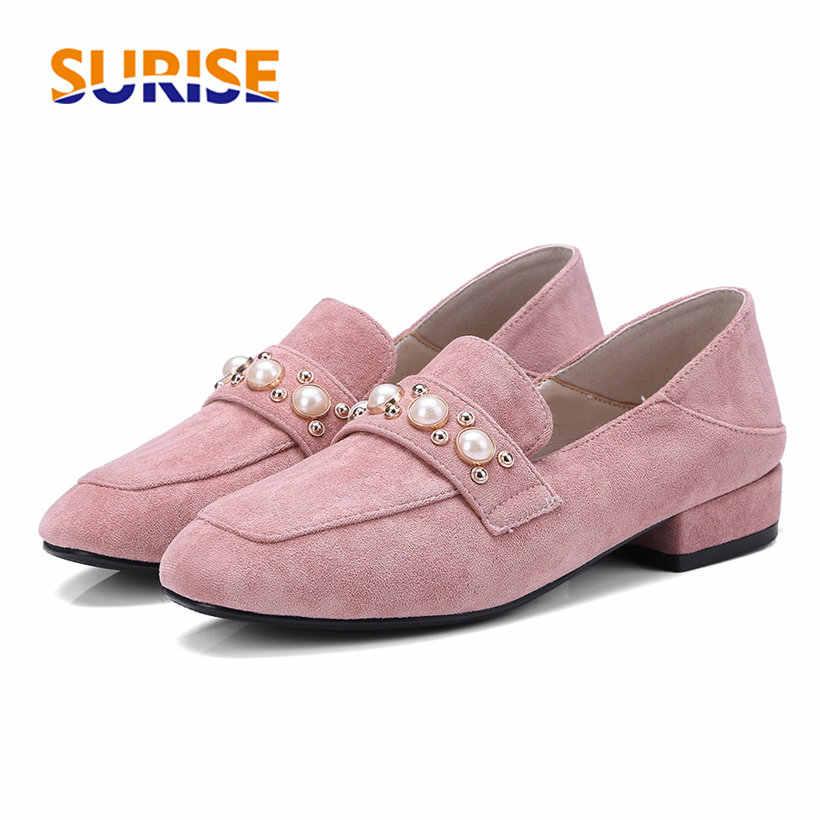 British Women Loafers Pink Flock Suede
