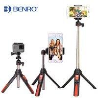 BENRO 33inch Handheld Tripod Selfie Stick 3 In 1 Bluetooth Extendable Monopod Selfie Stick Tripod For