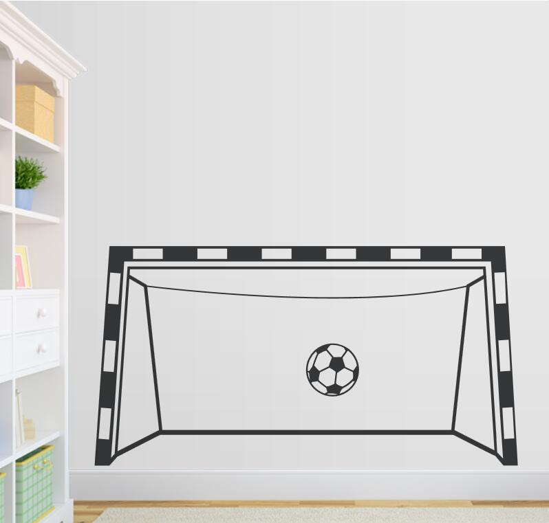 Creative Soccer Goal Wall Decal Playroom Decor Vinyl Wall Stickers Goal Custom Color Ava ...