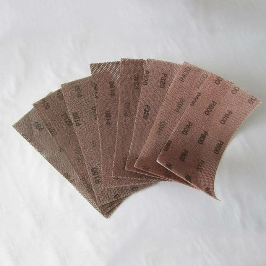 2-20Pcs 93x230mm Mesh Sanding Sheet Sandpaper Strips Flocking 120-600 Grit Hook Loop Sandpaper Strips