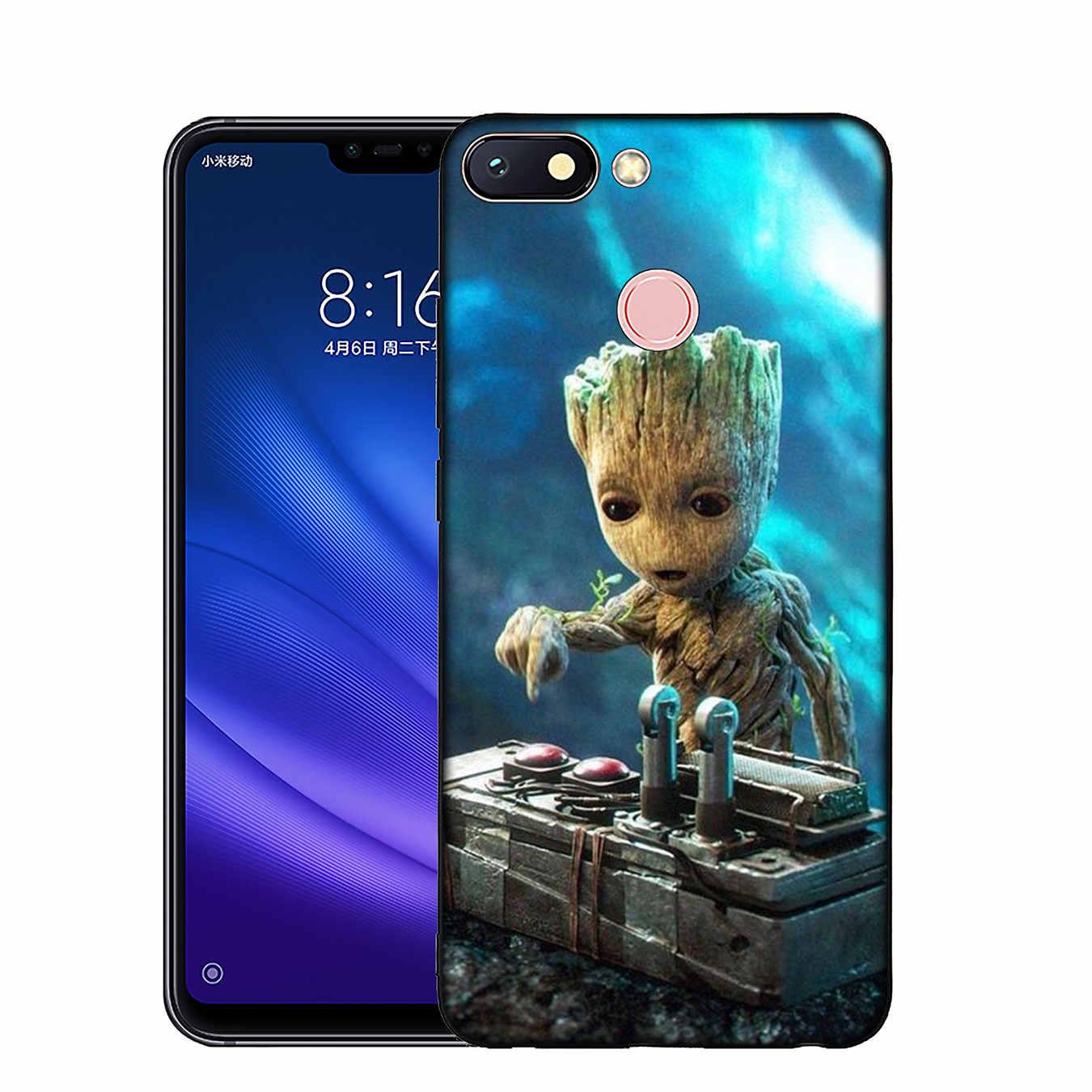IYICAO guardián Rocket Raccoon Groot Treeman funda de silicona suave para Xiaomi mi 9 8 A2 Lite A1 6 pocophone f1 MAX 3 mi 9 mi 8 mi a2