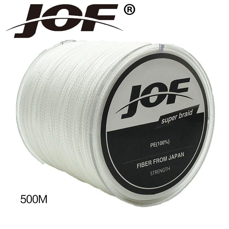 Nieuwe Collectie !! JOF 4 Srtands 500 M PE Gevlochten Lijn 10LBS Tot - Visvangst - Foto 6