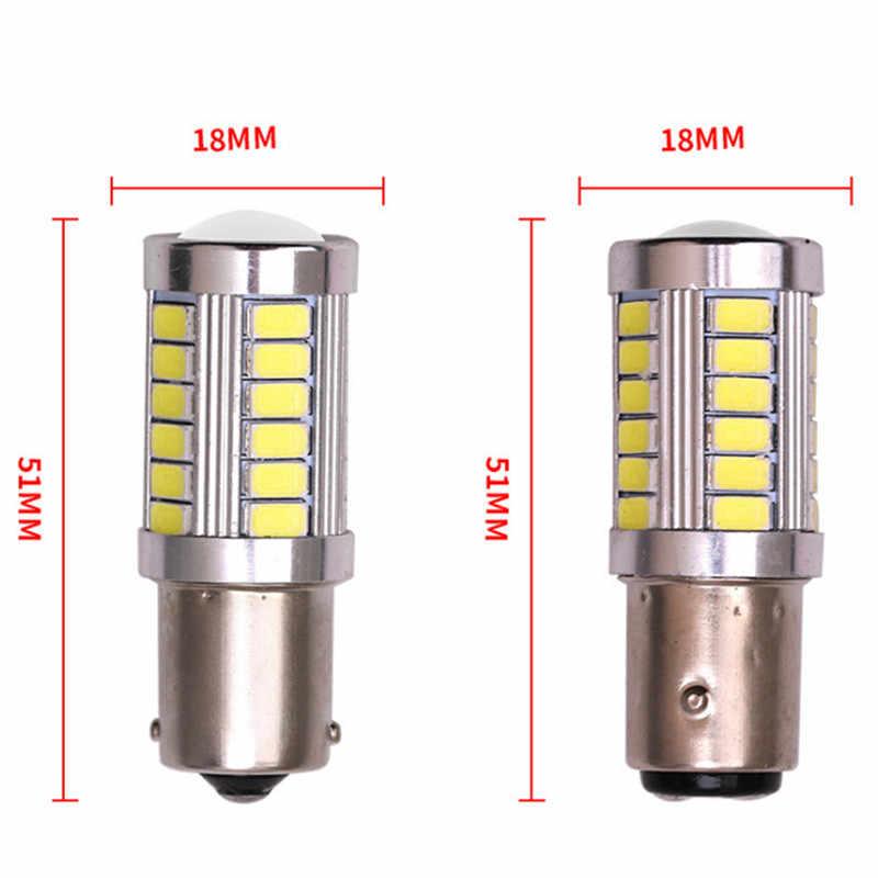 1 adet 1156 BA15S P21W 33 led 5630 5730 smd kırmızı beyaz sarı Araba Kuyruk Ampul fren lambaları oto Ters Lamba gündüz Çalışan Işık