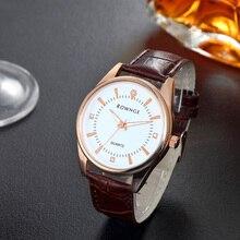 2018 пара Таблица мужские модные цвета розового золота высокого класса мужской ремень кварцевые часы унисекс водонепроницаемый