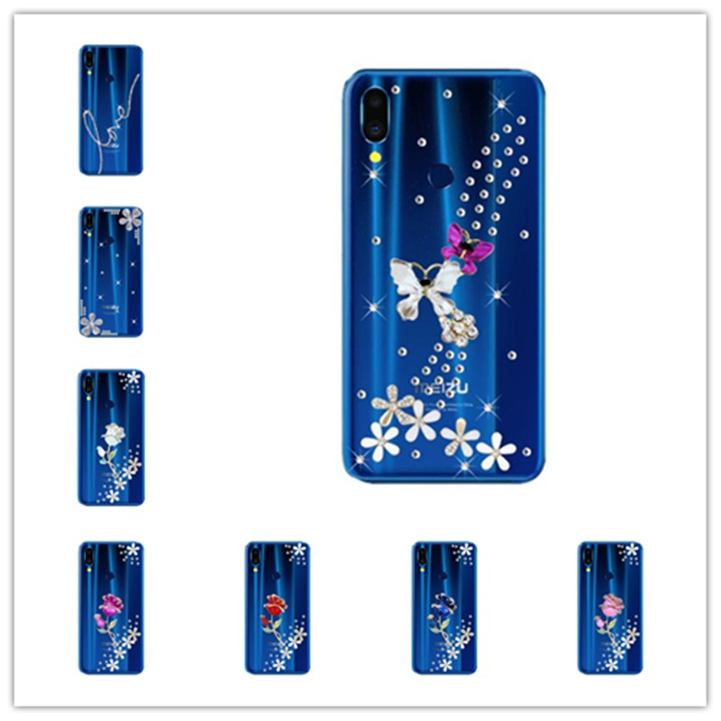 for <font><b>Meizu</b></font> note9 note 9 8 <font><b>C9</b></font> <font><b>pro</b></font> 7 6 plus Case Bling Peacock Rose Diamond Case For <font><b>Meizu</b></font> 16 plus 15 lite M6T M6S M5S Phone Cover image